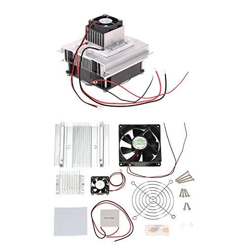 Preisvergleich Produktbild KKmoon DIY Thermoelektrischer Peltier Kühlung-Kühlsystem-Installationssatz Semiconductor Kühlvorrichtung-Leitungs-Modul + Heizkörper + Kühlventilator + TEC1-12706