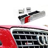 Badge de grille avant de voiture en forme de S Line pour A1/A3/A4L/A5/Q5, décoration de voiture S Line