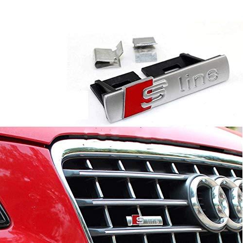 BOLLAER S line Auto Grill Grill Emblem Styling für A1/A3/A4L/A5/Q5, Auto-Dekoration, S-Linie, Auto Grill Emblem