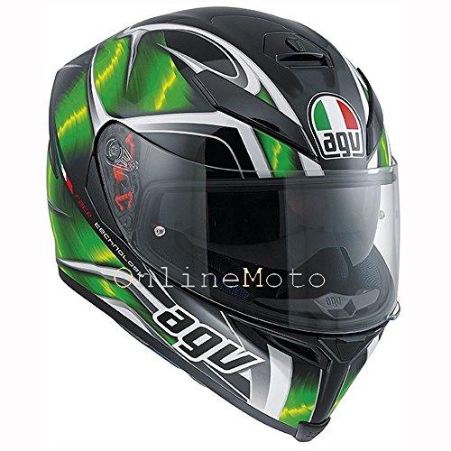 AGV k5-s huracán negro verde y blanco Casco de Moto