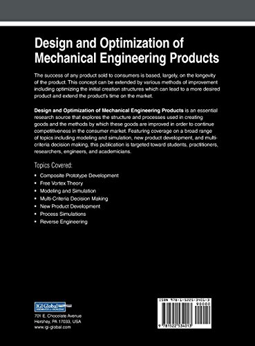 Design and Optimization of Mechanical Engineering Products (Advances in Mechatronics and Mechanical Engineering)