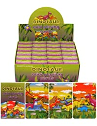 Henbrandt Kinder Mini-Spielkarten mit Dinosaurier-Design, 24er-Pack