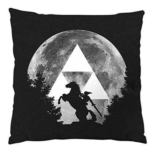 A.N.T. Link Epona Mond Kissen mit Füllung 28 x 28 cm Baumwollbezug snes zelda ocarina