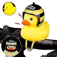 Peedeu Duck Bell, Cartoon Duck Head Light Shining Duck Bicycle Bells Handlebar Bicycle Accessories, Yellow