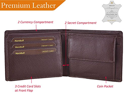 Hornbull-Mens-Brown-Themes-100-Genuine-Leather-Wallet