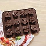 preadvisor (TM) Fashion 12Estilos de búho molde de silicona decoración de chocolate Galletas MOLDE PARA HORNEAR