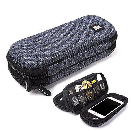 Tragbare Digitale Organizer Tasche, Evershop Wasserdicht & Shockproof Travel Case für Smartphone, iPhone Wirless Kopfhörer, Digital Data Kabel USB Organizer Elektronik und Zubehör Aufbewahrungsbeutel (Groß)