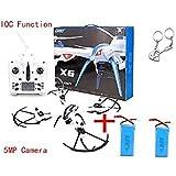 Blueskysea regalo libre + JJRC H16 Tarantula X6 drone 4CH RC Quadcopter gran angular cámara de 5MP Hyper IOC + extra Baterías 2pcs 1200mAh