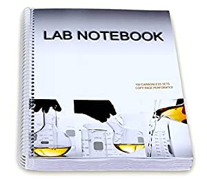 Lab Notebook 100 Carbonless Pages Spiral Bound (Copy Page Perforated)