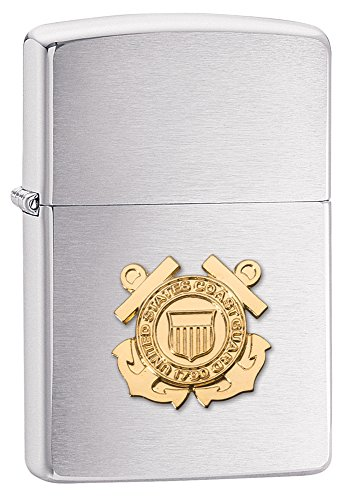Zippo Coast Guard Emblem Pocket Lighter [Sports] (Guard Emblem Coast)