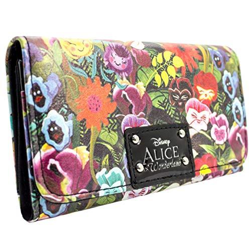 Alice Bekleidung (Disney Alice In Wonderland Blumen Grün Portemonnaie Geldbörse)