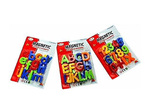 Elite Enterprises Magnetic Learning Alphabets and Numbers - Educational Magnet Set for Kids 78 Pieces (Pack of 3), Helps Children to Recognize Letters and Numbers, to Learn New Language