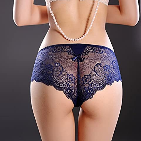 RRRRZ*Article 2 low rise that underwear female lace underwear transparent temptation 3 non-marking of the underwear ,M,2 Po Lan *2 installed