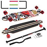 MARONAD Longboard Drop Through Race Cruiser ABEC-11 SAT LED und der MARONAD STICK