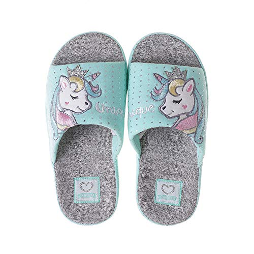 Coralup Kids Cotton Indoor Unicorn Slippers Shoes Home Anti-Slip Dinosaur Slipper for Boys and Girls Size 11.5 UK Child to UK 2.5