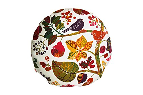 beties Zauberwald Coussin décoratif et Linge de Table en Coton 100% Coton Couleur Ivoire, Hülle 60 cm rund
