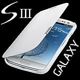 Flip Tasche Samsung Galaxy S3 Neo Gt - i9301i Schutz Hülle Case Cover Weiss