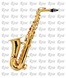 Rose band company Musicals Alto Saxophone Gold Polish with Hard Case (Golden)