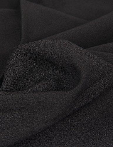 Shinekoo® Damen Langarm Plus Größen Spitze Chiffon Tops Sommer Shirt Bluse Schwarz