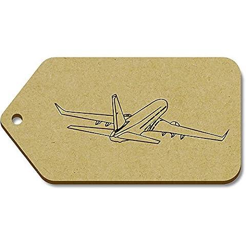 10 x Large 'Jumbo Jet' Wooden Gift / Luggage Tags (TG00011605)