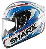 Shark Race-R Pro Kimbo - Integralhelm, Farbe weiss-blau-rot, Größe XS (53/54)