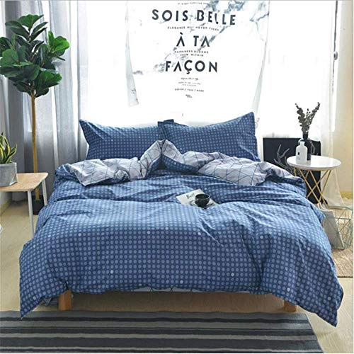 SHJIA Bettwäsche-Sets Geometric Pattern Bed Linings Bettbezug-Set Kissenbezüge Cover Set A 180x220cm (Faultier Preis Verkauf Für)