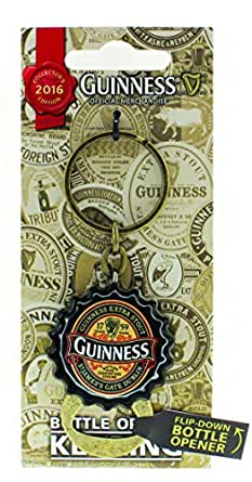 Guinness Limited Edition 2016 Keychain With Flip Down Bottle Cap Opener