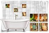 Medianlux Autocollants pour carrelage et carrelage Motif Herbes aromatiques, 20 x 20 cm