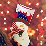 Uomere–grandes botas de calcetines de Navidad bolsas de regalo calcetines de Papá Noel Muñeco de nieve oso chimenea decorativa Warp