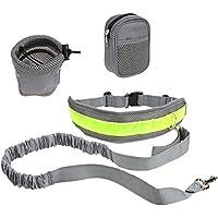 ROSENICE Guinzaglio del cane di cane guinzaglio regolabile in vita per passeggiate in corsa con il sacchetto (grigio) - Bottle Holder Cintura