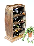 DanDiBo Weinregal Weinfass 1549 Bar Flaschenständer 70 cm für 13 FL. Regal Fass Holzfass
