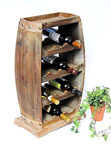 lz Weinfass 1549 Bar Flaschenständer 70 cm für 13 FL. Regal Fass Holzfass ()