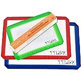 TTLIFE Tapete para Hornear de Silicona Bandejas para Galletas y Repostería Fácil de Limpiar y Reutilizable (rojo,azul.verde)