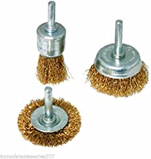 TOOLSCENTRE Multipurpose Wire Brush Set To Remove Paint, Dust, Dirt - Pack of 3