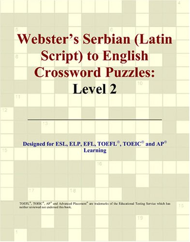 Webster's Serbian (Latin Script) to English Crossword Puzzles: Level 2