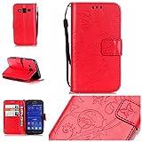 Nancen, Borsa bowling donna rosso rosso Samsung Galaxy Core Prime SM-G360 G361 immagine
