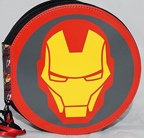 Marvel Avengers Iron Man astuccio tondo 2 zip completo