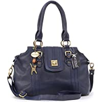 "Borsa in pelle a spalla con chiusura a scatto di Catwalk Collection ""Kate"""