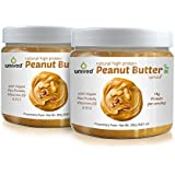 Unived Natural High Protein Peanut Butter Spread With Pea Protein, & Vegan Vitamin B12 & Vitamin D3, 14g Protein...