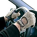 Autofahrer Handschuhe KFZ Auto Fahrerhandschuhe Retro Vintage Lammleder Leder Braun Gr. XL