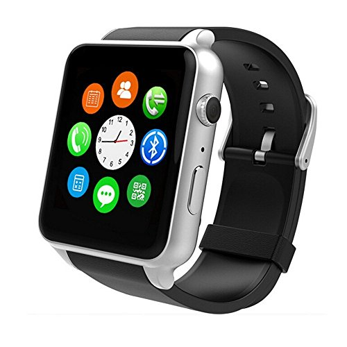 Yarrashop Orologio Smart Android Phone Watch cardiofrequenzimetro Bluetooth Smart Watch Supporta SIM Card per Samsung Galaxy S3/S4/S5/Note2/Note3/Note4 HTC Sony LG Xiaomi Huawei ZUK And iPhone