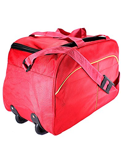 """3G 20"""" 23 Liters Trolley bag with pouch- red, Orange"""
