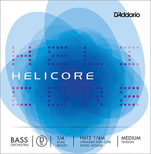 DADDARIO H612 1/4M HELICORE   CUERDA DE RE PARA CONTRABAJO (1/4  NIQUEL  TENSION MEDIA)