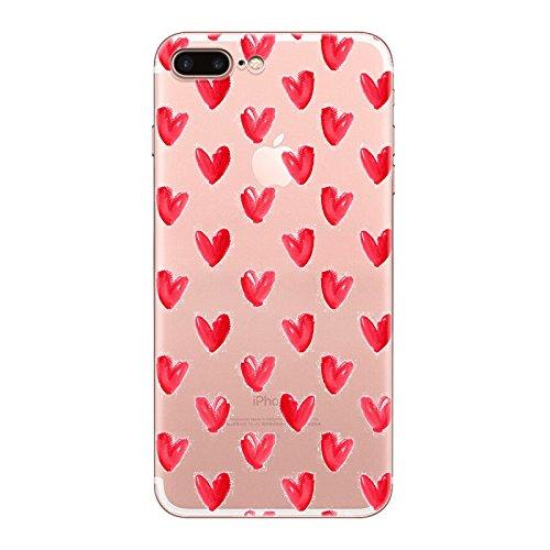 IPHONE 7plus Hülle Meerjungfrau Ananas Liebe Muster TPU Silikon Schutzhülle Handyhülle Case - Klar Transparent Durchsichtig Clear Case für iPhone 7 plus hw7