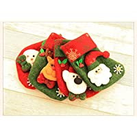 13 * 18CM Mini Colorful Socks for Christmas Decoration Christmas Socks(Snowman)1PC