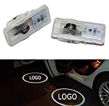 Sunshine Fly 2 Stück Autotür Logo Türbeleuchtung LED Willkommen Logo Projektor Light Laser 3D Tür Leuchtet