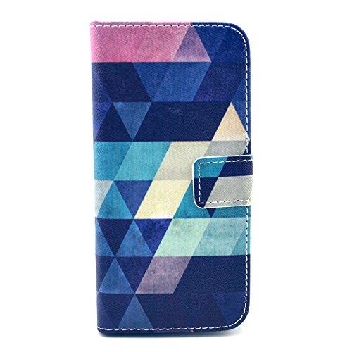 """MOONCASE iPhone 6 Case Motif Conception Coque en Cuir Portefeuille Housse de Protection Étui à rabat Case pour iPhone 6 (4.7"""") P69"""