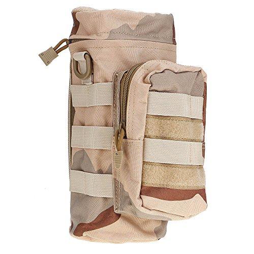 ?HuntGold Outdoor Wandern Reisen Taktisch Militärisch Reißverschluss Wasserflasche Tragen Beutel Tasche Sand