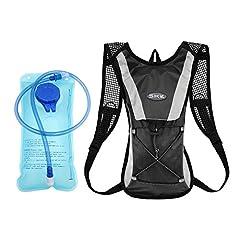 Idea Regalo - Idratazione Zaino Capacità 2 litri Sacca per Idratazione Sistema Borraccia Zaino Borsa Posteriore da Bicicletta Ideale per Escursionismo e Scalate Sistema di Idratazione (Nero)
