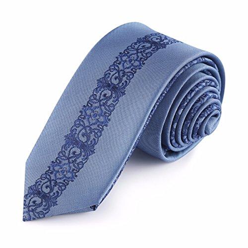 362b855511b0e HXCMAN 6cm blau Rokoko königlich Geblümt schmale krawatte Kunst klassisches  design Herren 100% Seide krawatte